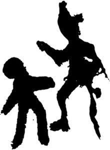Schwarzweiße Figuren